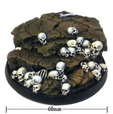 Heresy miniatures en résine 60mm round skullz display base