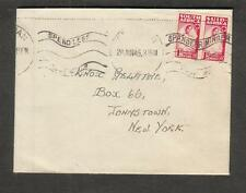 South Africa Jun 1945 WWII no censor cover to NY/spend less/save more slogan