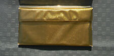 Vintage Gold Exterior Plastic  Purse Clutch Snap Button