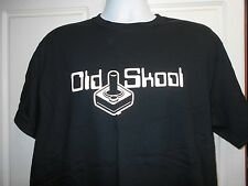 Old School Black Adult Sz Medium M Tee Tshirt T Shirt Game Controller Joy Stick