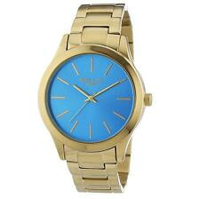 Mike Ellis New York Womens Quartz Watch Golden Eye with Metal Strap
