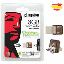 PENDRIVE KINGSTON MICRO DTDUO/8GB 8GB MEMORIA OTG USB 2.0 8 GB PEN DRIVE MOVIL