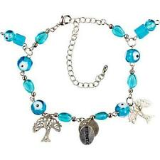 Aqua Evil Eye Bracelet with Tree of Life and Eternity Charms!
