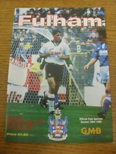 19/11/1994 Fulham v Lincoln City  . Item appears to be in good condition unless