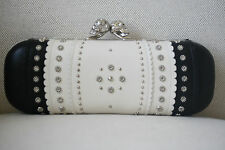 ALEXANDER MCQUEEN BLACK STUDDED SKULL KNUCKLE BOX CLUTCH BAG