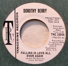 Dorothy Berry Falling in Love All Over Again Northern Soul Tangerine DJ Promo 45