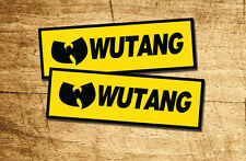Lot of 2 Pieces Wu Tang Hip Hop Sticker Decal Vinyl
