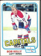 1981 - 1982 Topps Bob Kelly Washington Capitals #E119 Hockey Card
