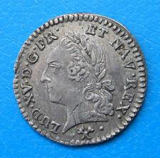 Louis XV 20ème d'écu à la vieille tête 1773 L BAYONNE