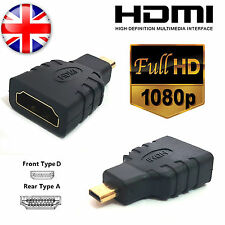 HDMI Female to Micro HDMI Type D Male Adapter Convertor Gold Plated TV LCD HDTV