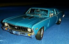 Ertl 1:18 Diecast 1969-70 Chevy Nova SS, LeMans Blue, Big Block 396. Nice Shape!