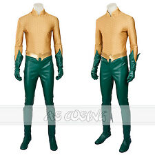 Aquaman Cosplay Costume Arthur Curry / Orin Costume Full Set  Halloween Costume