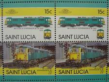 1975 BR Class 87 Stephenson Electric Train 50-Stamp Sheet (Leaders of the World)