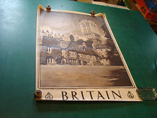 "Original Vintage Poster: BRITAIN 20 X 30""-LINCOLN-the Cathedral & Vicars Court"