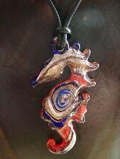 Anhänger aus Glas Seepferdchen Nr. 1 mit passender Halskette