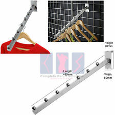 GRIDWALL MESH ANGLED/ WATERFALL '7 BALL ARM' CLOTHES HANGING DISPLAY ACCESSORY