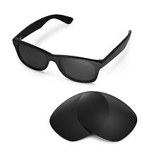 New Walleva Polarized Black Replacement Lenses For Ray-Ban Wayfarer RB2132 52mm