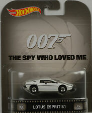 Retro Movie James Bond Lotus Esprit S1 The spy who loved 1:64 Hot Wheels USA