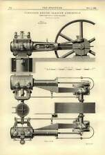 1888 Robey Compound Engine Plans Elevation Cross-section
