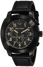 Emporio Armani AR6061 Sportivo Black Dial Leather Strap Chronograph Men's Watch
