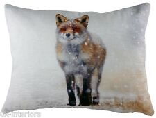 "17x13"" WINTER FOX in Snow Couch Cushion Evans Lichfield DP500 - New for XMAS"