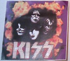 """KISS large 6""""x5.75"""" STICKER DECAL deadstock new old stock"""