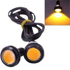 2 PCS 2x 3W 120LM Waterproof Eagle Eye Light Yellow LED Light for Vehicles, Cabl