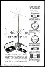 1927 ELGIN Pocket Watch in 2 styles Men's & Ladies Wrist Watches AD w/prices