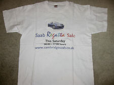 RARE ICONIC Cambs SAAB Convertible CV Regatta Sale CAR DEALER Promo T SHIRT TOP
