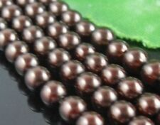 Free Ship 140pcs Coffee Round Czech Glass Pearl Spacers Beads 6mm