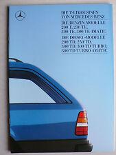 Prospekt Mercedes W 124 T: 200 T - 300 TD Turbo 4Matic, 1.1988, 40 Seiten