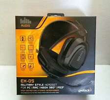 Gioteck EX05 Multi-format Headset for PS3, Xbox 360, PC, & Mac Brand New Sealed