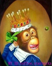 """Art Repro Animal oil painting:""""Monkeys at canvas"""" 24x36 Inch"""