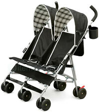 Lightweight Double Side By Side Umbrella Stroller Baby Toddler Twin 2 Seat Small