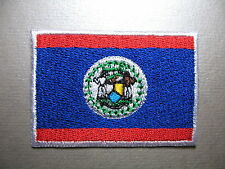 Belize Flag Small Iron On / Sew On Cloth Patch Badge Belizean Bandera de Belice