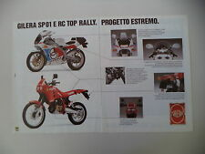 advertising Pubblicità 1989 MOTO GILERA RC 125 TOP RALLY/SP01 SP 01