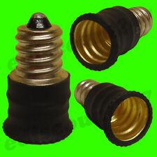 E12 CES To E14 SES BLACK Light Bulb Adaptor Converter Lamp Holder LED UK SELLER