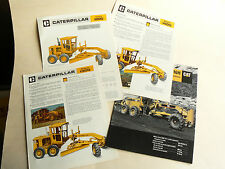 Lot de 4 Prospectus  CATERPILLAR  Niveleuse    brochure catalogue  TP