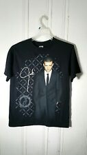 JUSTIN TIMBERLAKE TOUR TEE MEN'S MEDIUM BLACK S/S GRAPHIC FRONT AND BACK