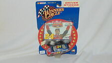 2002 JEFF GORDON 1/64 SCALE WINNERS CIRCLE DRIVER STICKER 2001 CHAMPION CAR
