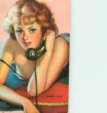 """GIL ELVGREN (UNSIGNED) """"NUMBER PLEASE"""" SEXY REDHEAD ON THE PHONE"""