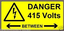 Electrical Labels - Danger 415V  BETWEEN - 50 Labels 50 x 25mm