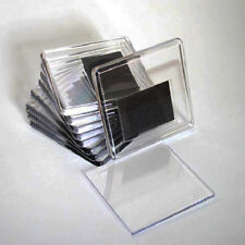 10 x Blank Clear Acrylic Fridge Magnets 65x65mm - Photo Size - 57x57 mm