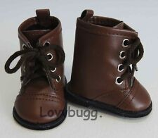 """Brown Lace Up Horse Riding Boots Doll Shoes for 18"""" American Girl Wow Selection!"""