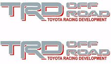 TRD OFF ROAD Silver Red Decals /Vinyl Stickers Toyota Tundra Tacoma Truck Logos