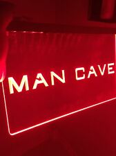 Man Cave Led Light Neon Sign acrylic for Game Room,Bar,Man Cave, Decor, Blue