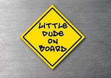 Little dude on board sticker quality 7 year vinyl  water & fade proof baby
