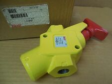 "Schrader Bellows 1/2"" NPT Lock-Out Valve LV40AS 250 PSI 1724 kPa New"