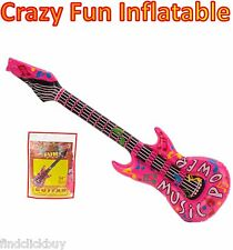 "34"" Rock Guitar Inflatable, Fancy Dress Party Beach Pool Toy"