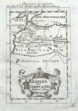 NORTH WEST AFRICA, MOROCCO, ALGERIA, Mallet original antique map 1719
